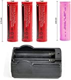 Bestsight Trial Battery 1 pc Indicator + 3pcs Battery(Red Color) for BESTSIGHT Night Vision+1pc Pink Color for Pard…