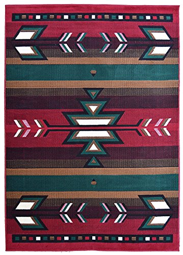 Rugs 4 Less Collection Southwest Native American Indian Area Rug Design R4L SW1 in Red (8'x10') by Rugs 4 Less