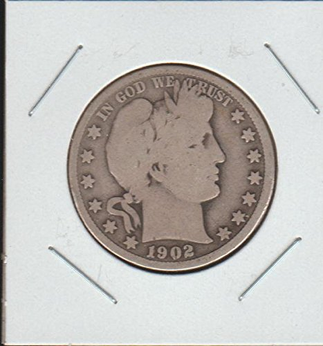 1902 Barber or Liberty Head (1892-1915) Half Dollar Very Good