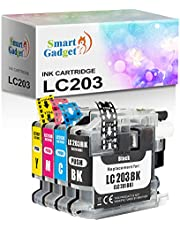 Smart Gadget Replacement for Cartridge Ink LC203 Color Set for use with MFC-J485DW, MFC-J4620DW, MFC-J4320DW, MFC-J680DW, MFC-J4420DW, MFC-J885DW (1 Set)