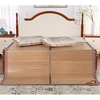 Amazon Com Qbedding Carbonized Bamboo Summer Sleeping Mat