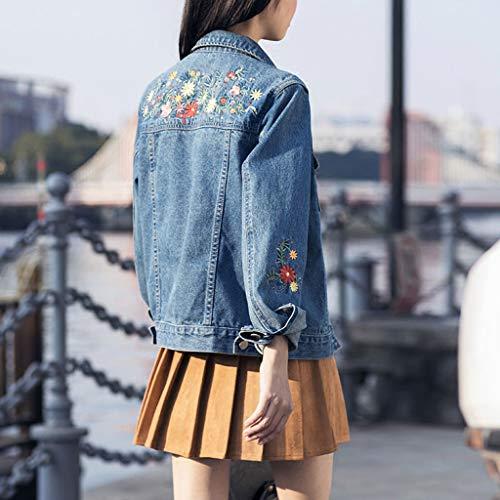 Blu Manica Nz M Cappotto Blu Breve Dimensioni colore Corta A Jeans Di Donna Paragrafo Da O66rIq