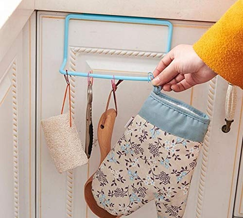 - Towel Holder ,Elevin(TM) Towel Rack Hanging Holder Organizer Bathroom Kitchen Cabinet Cupboard Hanger (Blue)
