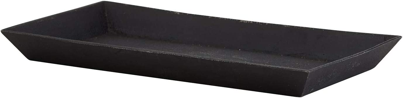 Creative Brands 47th & Main Rustic Serving Tray, 10.2 x 5.80-Inches, Cast Iron Black