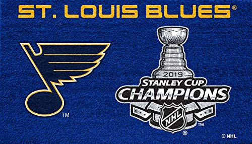 - Team Sports America NHL St. Louis Blues 2019 Stanley Cup Champions Team Color Turf Mat 28 x 16 Inches