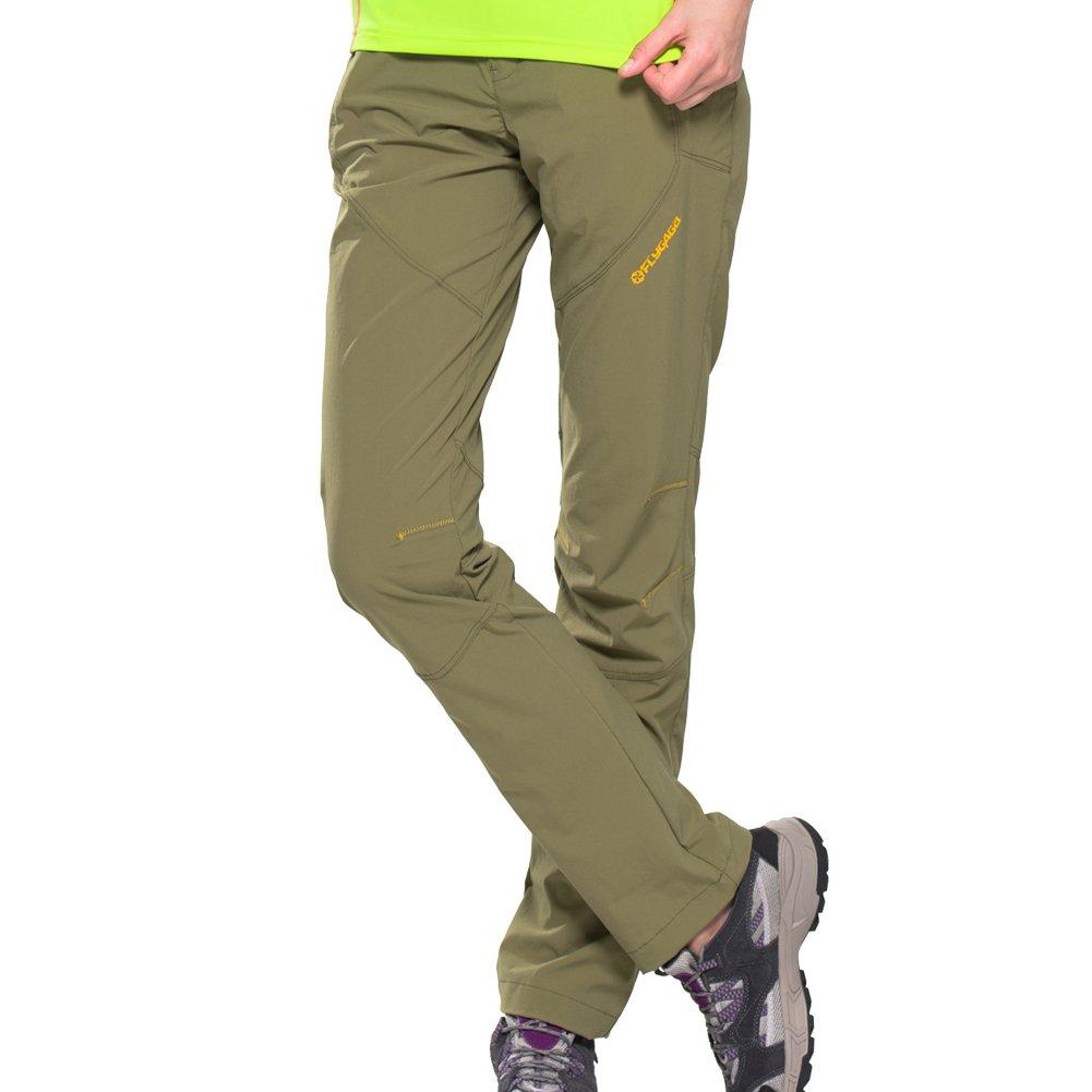 FLYGAGA Damen Outdoor Hose Outdoorhose Wanderhose Trekkinghose mit Gürtel Schnelltrocknend Elastisch Hose Funktionhose für Sommer Herbst