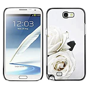 For SAMSUNG Galaxy Note 2 II / N7100,S-type® Roses Art Wedding Theme Flowers - Arte & diseño plástico duro Fundas Cover Cubre Hard Case Cover