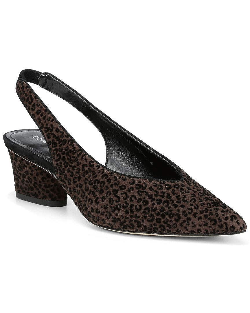 Dark Brown Leopard Suede Donald J Pliner Womens Gema-dp Pump
