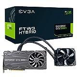 EVGA GeForce GTX 1080 Ti FTW3 HYBRID GAMING, 11GB GDDR5X, HYBRID & RGB LED, iCX Technology - 9 Thermal Sensors Graphics Card 11G-P4-6698-KR