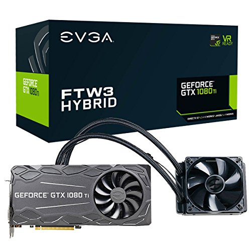 EVGA GeForce GTX 1080 Ti FTW3 HYBRID GAMING, 11GB GDDR5X, HYBRID & RGB LED, iCX Technology - 9 Thermal Sensors Graphics Card 11G-P4-6698-KR - Rgb Panel Flat Monitors