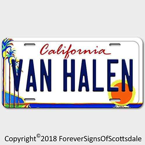 Forever Signs Of Scottsdale Van Halen Rock Band California Aluminum Vanity License Plate White