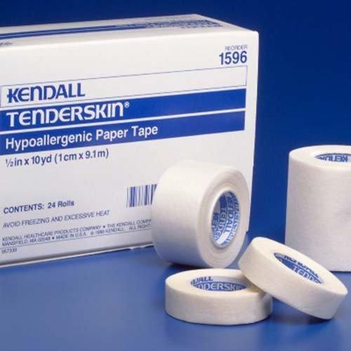 Tenderskin Hypoallergenic Paper Tape 1/2 x 10 yds. [ 5 Rolls ]