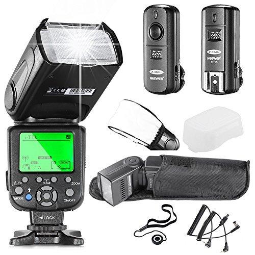 Neewer NW660III i-TTL HSS Flash Speedlite Kit for Nikon DSLR Cameras includes:(1)NW660III Flash+(1)2 4GHz Wireless Trigger(1 Transmitter 1 Receiver)+(1)Hard&Soft Flash Diffuser+(1)Lens Cap Holderの商品画像