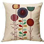 Cushion Cover Cartoon Flowers Pattern