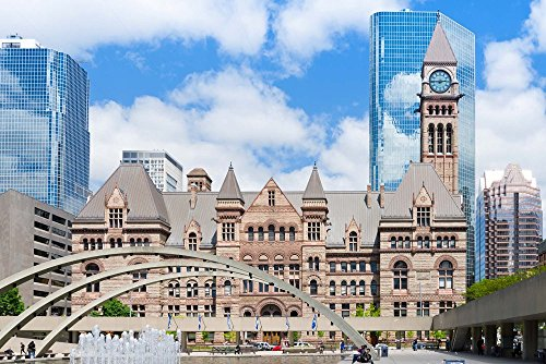 Facade of a Government Building, Toronto Old City Hall, Toronto, Ontario, Canada by Panoramic Images Art Print, 33 x 22 inches (Canada Hall City)