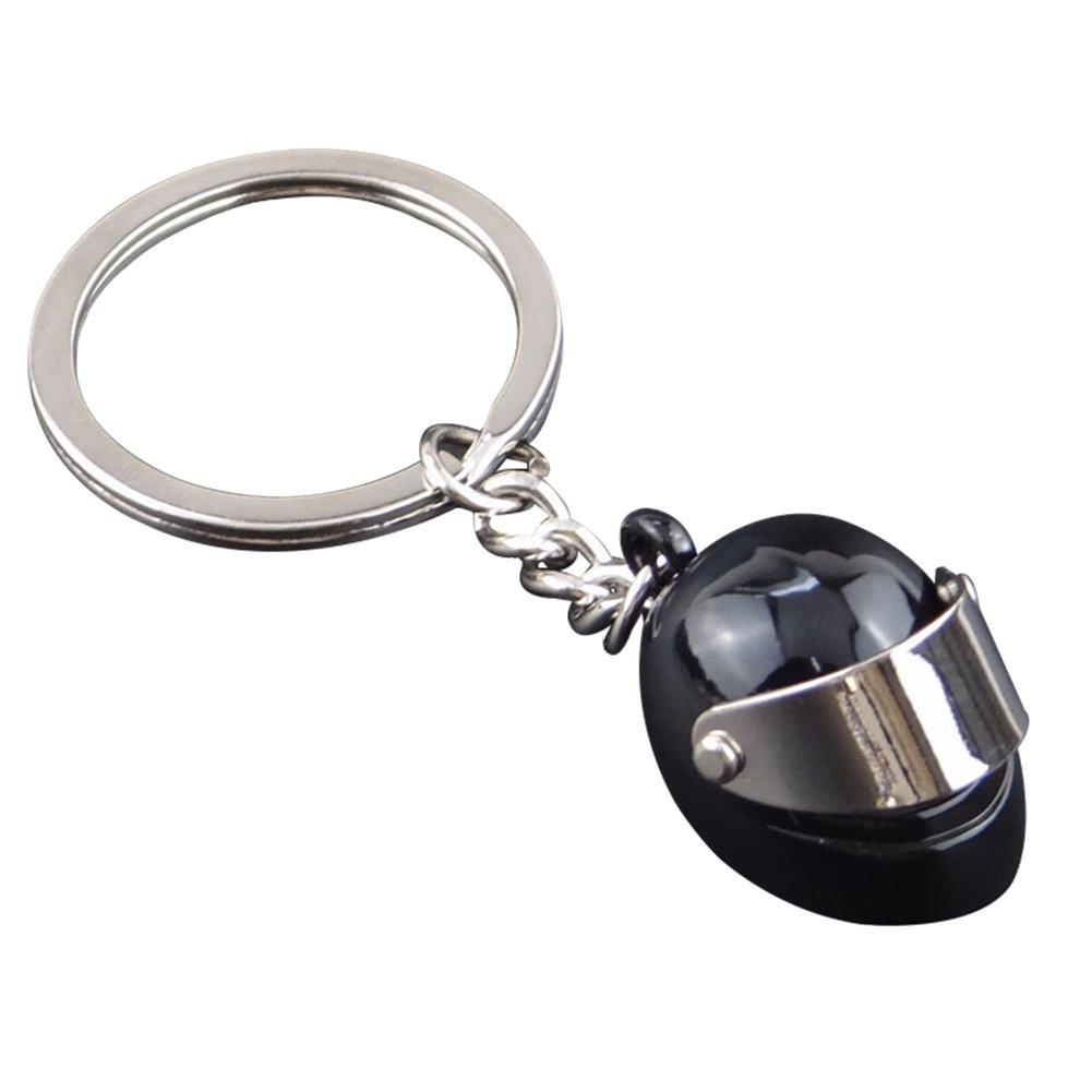 Leisial Llavero de Casco de Moto Aleación Personalizado Llavero para Accesorios Bolsa Coche Regalo de Cumpleaños