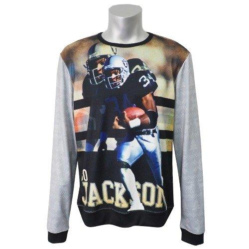 NFL オークランドレイダース ボージャクソン スウェットシャツ/トレーナー プレイヤー フォト Large  B07DD97CBT