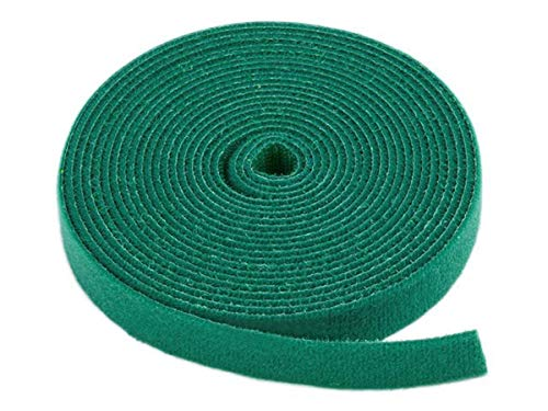 Green Loops - Monoprice Hook & Loop Fastening Tape 5 Yard/roll, 0.75-inch - Green (105833)