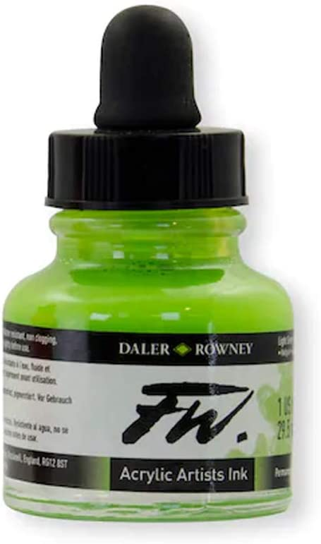 Daler-Rowney Recommendation FW Acrylic Popular Artists' Ink Green Light