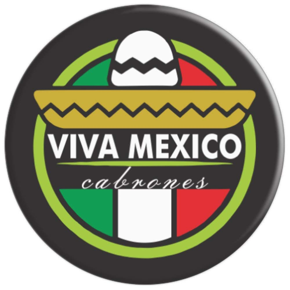 Amazon.com: Viva mexico cabrones sombrero colores patrios mexican style - PopSockets Grip and Stand for Phones and Tablets: Cell Phones & Accessories
