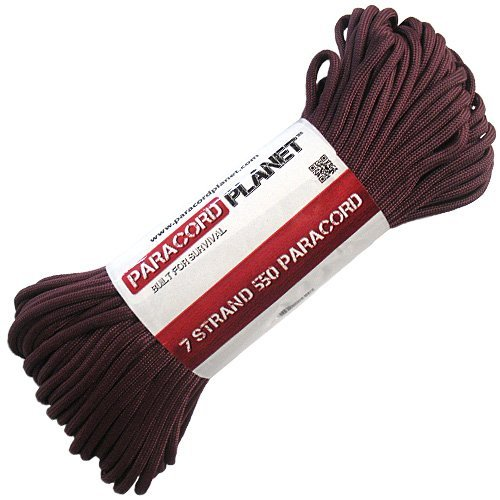 Now Selling Over 200 Parachute Cord Colors! Paracord Planet/® USA Made 550 Type III Paracord 100 Feet Burgundy