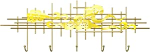 yaoyaoshop Coat Rack Hat Hanger Gold Wall-Mounted Coat Rack Coat Hook Entrance Hook Nordic Modern Coat Hook Wall-Mounted Hanger is 23.6 Inches Long (5 Hooks) Sturdy Coat Rack Stand