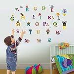 Walplus Kids Cute Alphabet London Wall Stickers Paper, 26 Separate Letters , 1 X 30Cm X 60Cm, Pvc, Removable ,Multi-Color