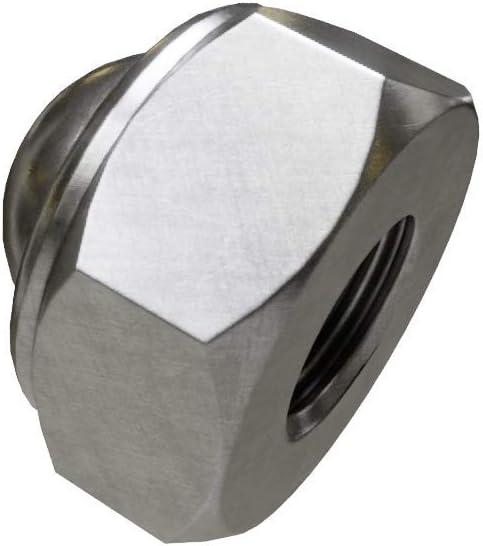 x1 Sechskant-Hutmuttern Selbstsichernd Edelstahl A2 DIN 986 M4
