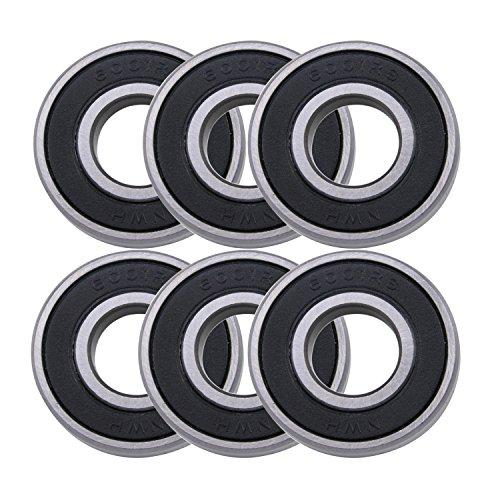 1/2' Sealed Ball Bearings (WPHMOTO 6PCS 6001RS Bearings 12mm x 28mm x 8mm (0.5'' x 1.1'' x 0.3'') For ATV Quad Pit Dirt Bike)