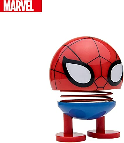 Marvel Avengers Endgame Spider-Man Figure Spider-Man Red 3.5 inches Bobblehead Doll Car Decoration