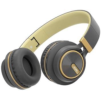 ACURE AC01 Auriculares inalámbricos Bluetooth Diadema Auriculares Plegables con micrófono HD/Tarjeta TF/Modo con Cable Desmontable para PC TV Teléfono ...