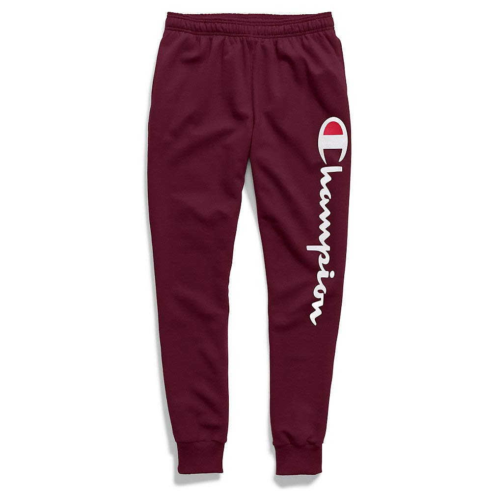 Champion Powerblend Jogger - Screenprint Y07234 Maroon MD by Champion