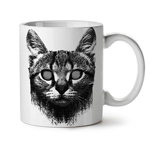 Drugs Face Sublime Cat Hypnotic White Tea Coffee Ceramic Mug 11 Oz   Wellcoda