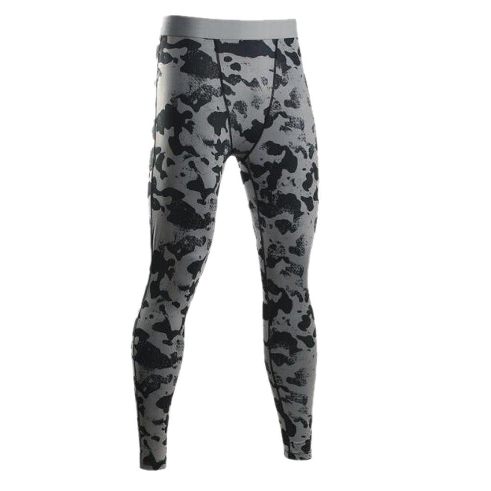 EUFANCE Uomo Camuffamento Compressione Collant Palestra Pantaloni Strato di Base in Esecuzione Sportivi Leggings YJF00058