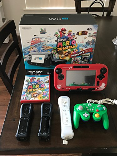 Price comparison product image Nintendo Wii U 32 GB Deluxe Set: Super Mario 3D World and Nintendo Land Bundle - Black