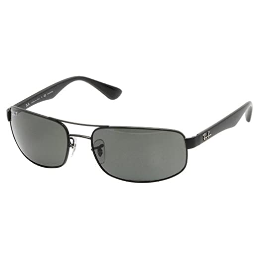 Image Unavailable. Image not available for. Color  Ray Ban RB3445 002 58 61  Black Crystal Green Polarized Sunglasses ... dc30a540d9