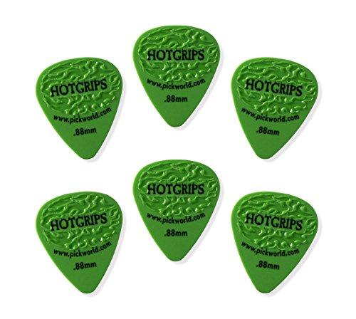 pickworld-hg6d-4-hotgrip-88mm-green-delrin-guitar-pick-pack-of-6