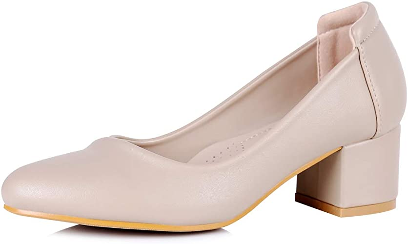 Women Black Low Heels Bow Detail Slip On Court Shoes Smart Casual Pumps Size