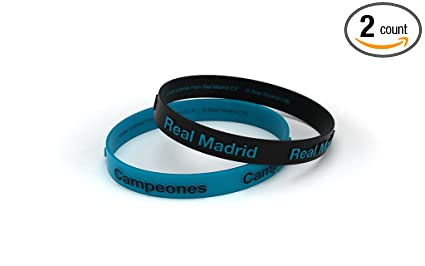 Amazon.com: Real Madrid Club de fútbol pulsera en relieve ...