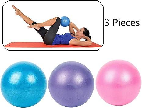 Xinlie Pilates Gimnasia Yoga Gym Soft Over Ball Fitball Pilates Pelota Embarazo Pelota de Ejercicios de Pelota de Mini Pilates de Yoga para Ejercicios Abdominales y Ejercicios Básicos (3 Piezas): Amazon.es: Deportes