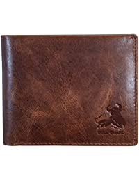 bde6faf66a078d RFID Blocking Bifold Wallet For Men Soft Genuine Vintage Leather