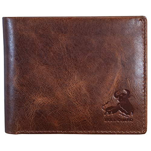Mens RFID Blocking Bifold Wallet | Soft Genuine Leather Brown Wallet