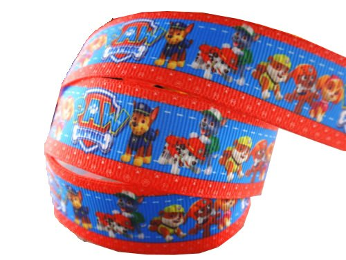 2m x 22mm NICK JR PAW PATROL GROSGRAIN RIBBON FOR BIRTHDAY CAKE'S, WEDDING CAKES, GIFT WRAP WRAPPING MOTHERS DAY Added Sparkle