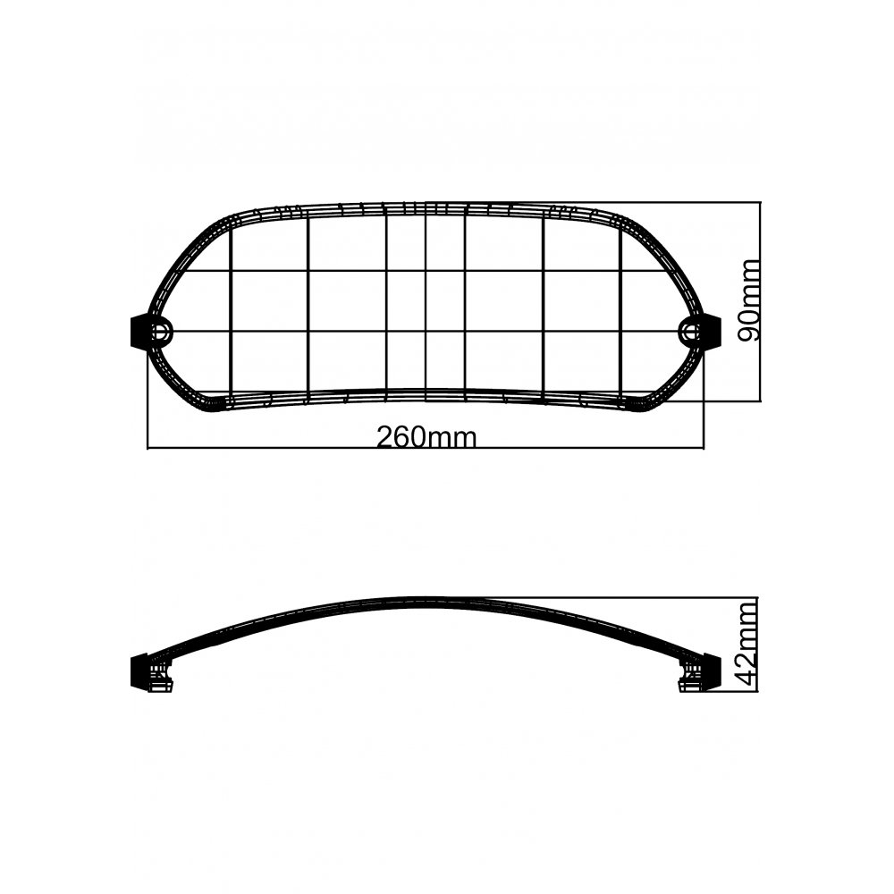 MRA X-Creen ''Sport'' style univeral attachment spoiler (clamp-on and bolt-on) - CLEAR