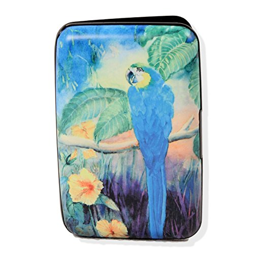 Blue Parrot Armored Wallet RFID Blocking - Fig Parrot