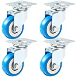 Caster Wheels Swivel Casters On Blue Polyurethane