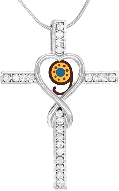 Beufun Zinc Alloy Chain Cross Pendant Necklace Number 1 Charm 3D Printed Jewelry for Men Women