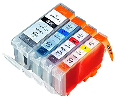 4 Pack Compatible Canon BCI-3 , BCI-3E , BCI-6 1 Big Black, 1 Cyan, 1 Magenta, 1 Yellow for use with Canon BJC-3000, BJC-6000, FAX-C855, MultiPASS F30, MultiPASS F50, MultiPASS F60, MultiPASS F80, MultiPASS MP700, MultiPASS MP730, PIXMA iP3000, S400, S450
