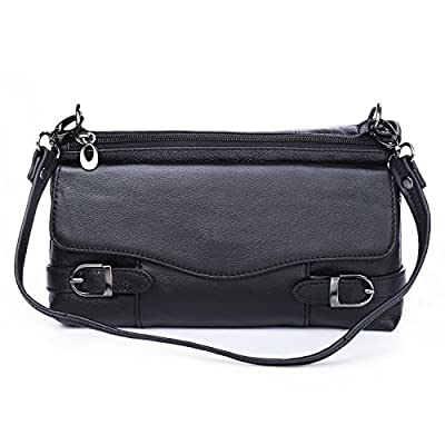 Leather Crossbody Bag For Women Small Shoulder Handbag Daily Cellphone Purse Clutch Wallet For iPhone X 8