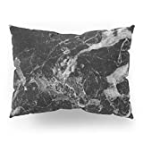 Society6 Black And Gray Marble Pattern Pillow Sham Standard (20'' x 26'') Set of 2